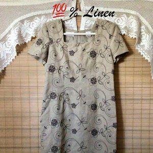 Liz Claiborne 100% Linen dress